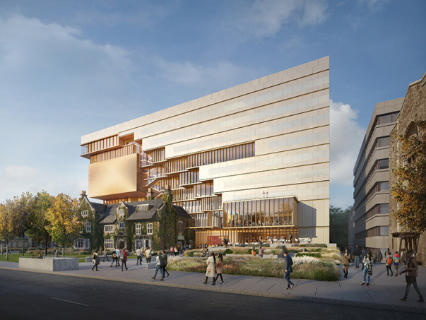 Rendering of new campus building at 90 Queen's Park