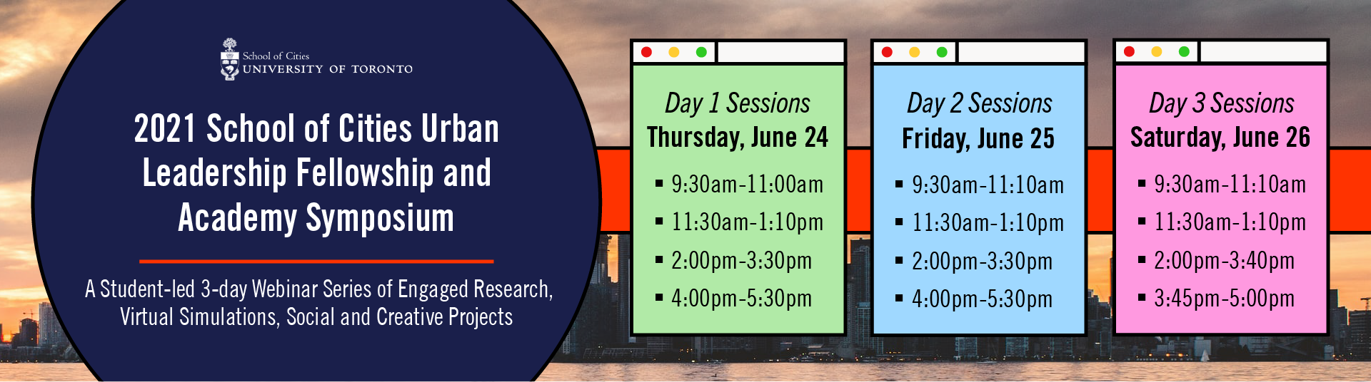 2021 Virtual research Festival Banner with dates for sessions.