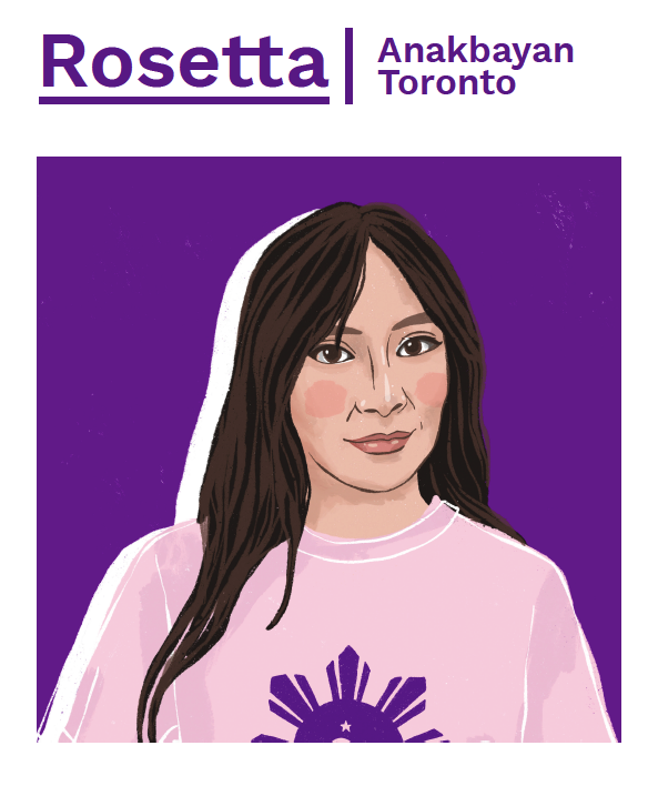 Rosetta Lucente, the Secretary General of Anakbayan Toronto.