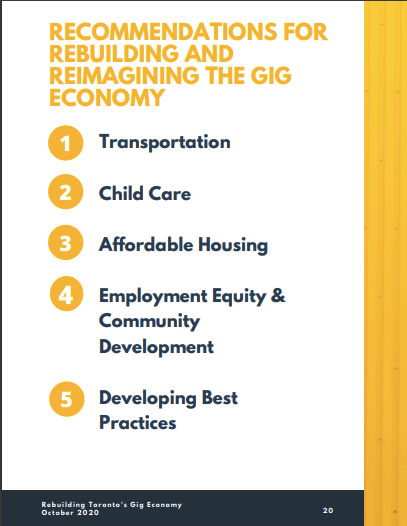 Recommendations for rebuilding and reimagining the gig economy