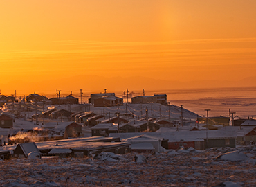Inuit community on Baffin Island via iStock