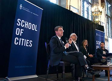 Public sector panel at the School of Cities urban career expo