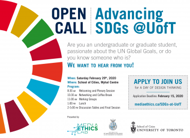 Open Call Advancing SDG's at UofT