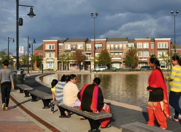 Brampton's Mount Pleasant Village includes a co-located school, library, recreation centre, and town square, creating a vibrant place that attracts people of all ages.