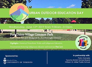 Urban Outdoor Education Day event poster