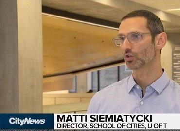 CityNews interview with Matti Siemiatycki