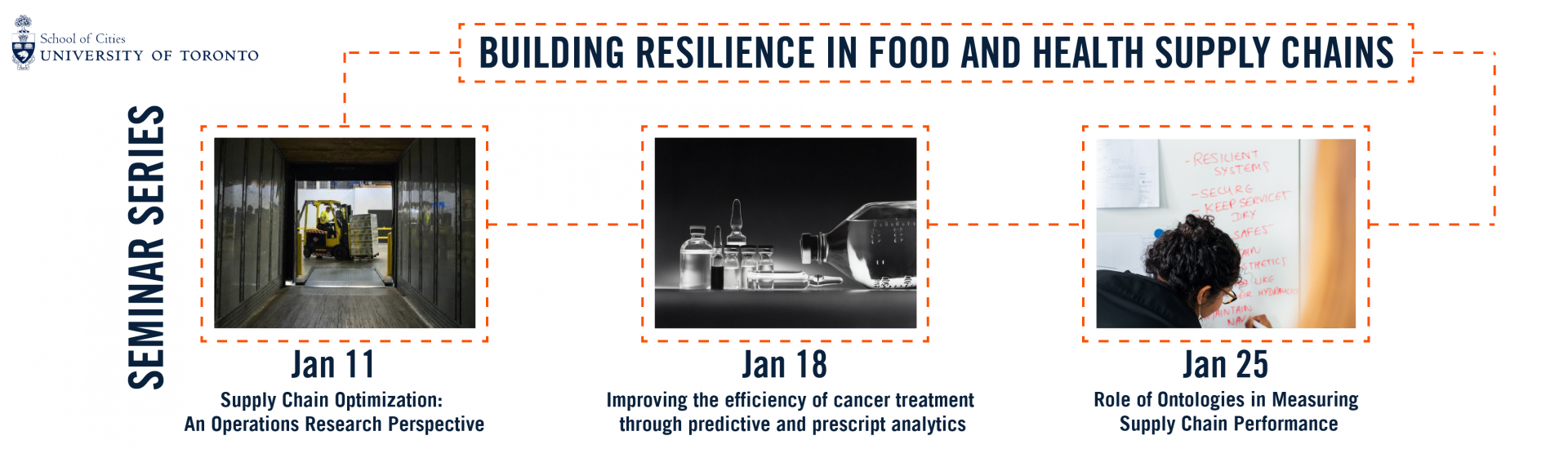 Building Resilience in Food and Health Supply Chains is a seminar series by the School of Cities