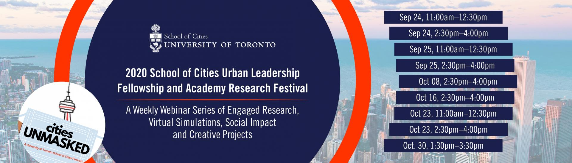 School of Cities Urban Leadership Fellowship and Academy (Virtual)Research Festival